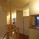 広山の家~ビルトインガレージのあるコートハウス~の写真 階段ホール