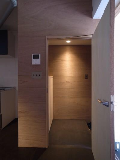 恵比寿西マンションリノベーション (玄関)