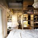 女子流ハンサムインテリアの写真 寝室