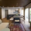 M様邸_こだわりキッチンのシンプル空間の写真 ダイニング