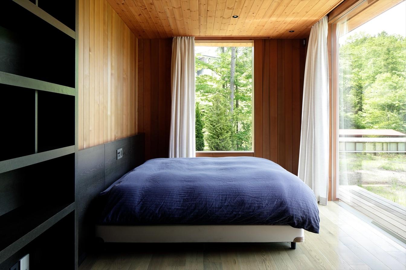 ベッドルーム事例:寝室(W山荘)