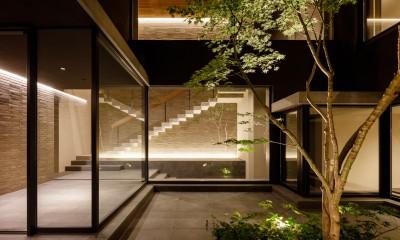 N邸 (中庭夜景)