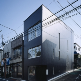 代沢の住宅 / 11坪の店舗付住宅 (外観)