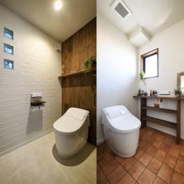 2世帯から1世帯へ リノベーションは大切な想い出とともに (癒し空間のトイレ)