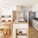 カバザクラと金属の家の写真 キッチン