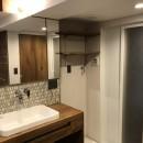 レトロと暮らす 明石市マンションリノベーションの写真 洗面所