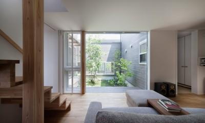 鎌倉中央公園の家 (リビング)