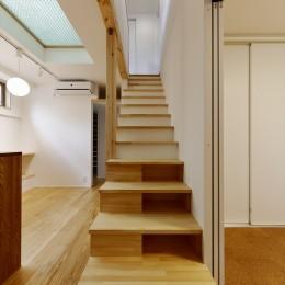 T様邸_3世代の思いをつつみこむ家 (階段)