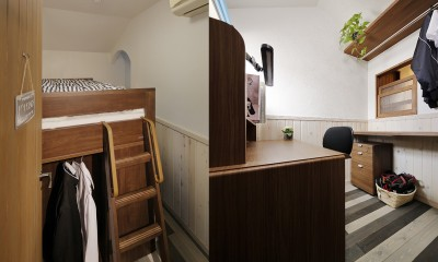リノベーションで3室追加! 暮らしやすい家の工夫 (子ども室(男の子))