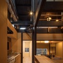 学林町の町家/耐震・断熱改修も行った京町家のリノベーションの写真 キッチン/インテリアの素材感に合わせた造作キッチン