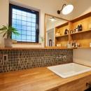 おもてなしの心あふれる和モダンな家の写真 洗面スペース