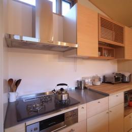 シンプル+ナチュラルな家~2人の好きをMIXした家~ (キッチン)