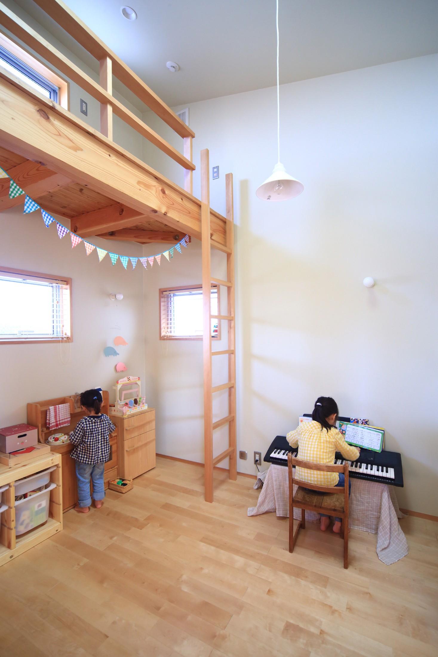 子供部屋事例:子供室(シンプル+ナチュラルな家~2人の好きをMIXした家~)