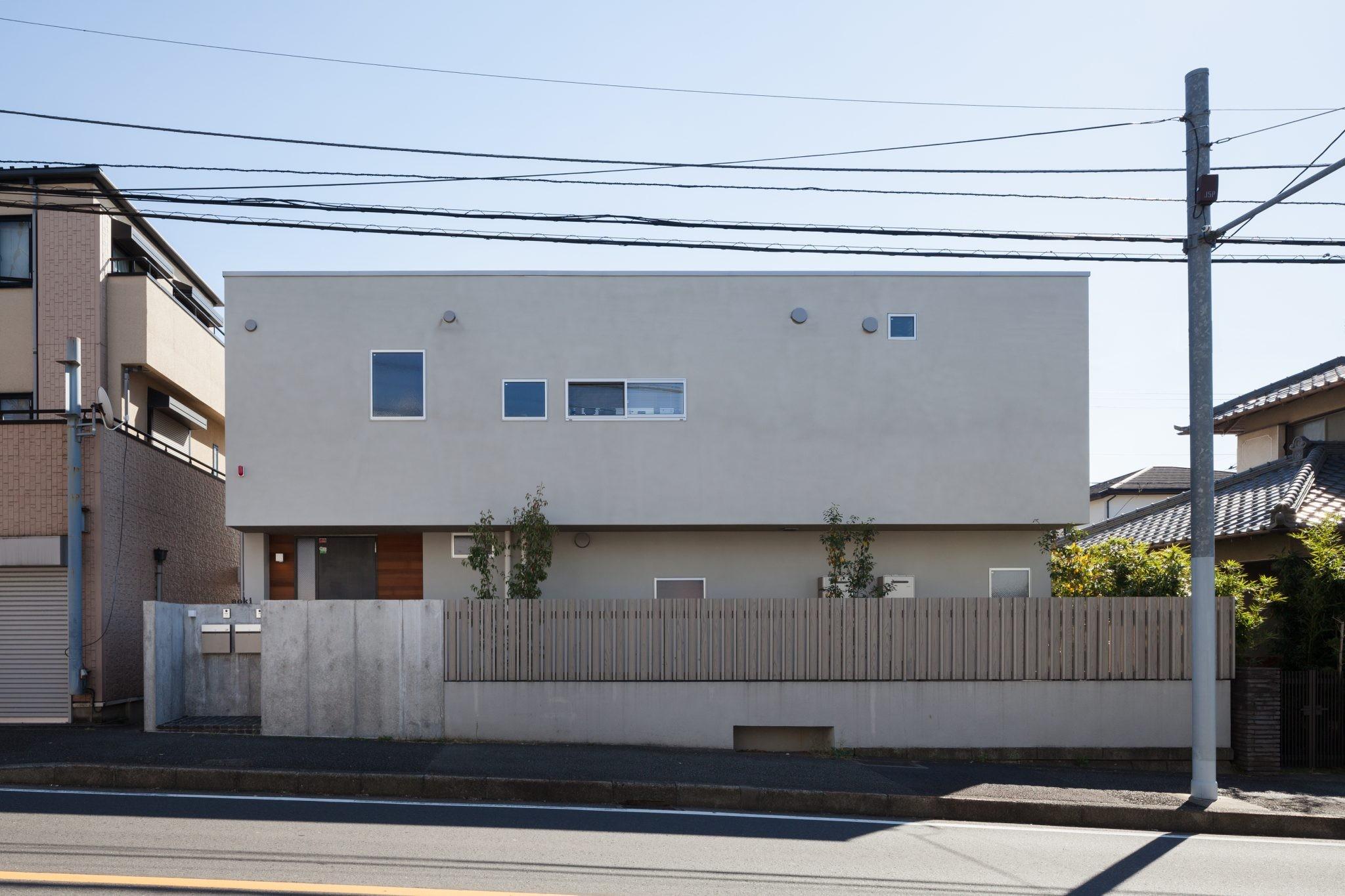 外観事例:北面外観(たまプラーザの家(2世帯住宅))