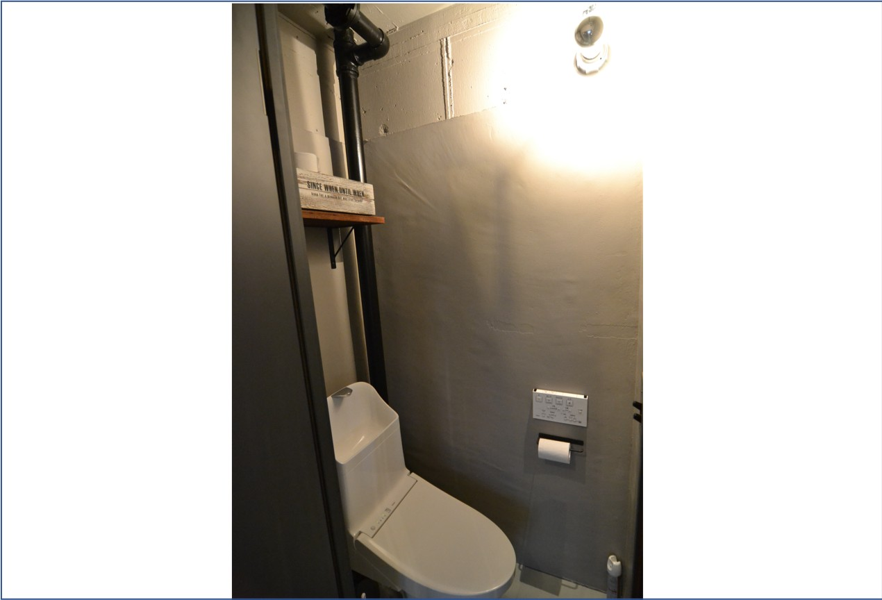 バス/トイレ事例:「トイレ」築48年団地インダストリアルリノベーション(築48年団地インダストリアルリノベーション)