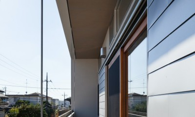 たまプラーザの家(2世帯住宅) (2階テラス)