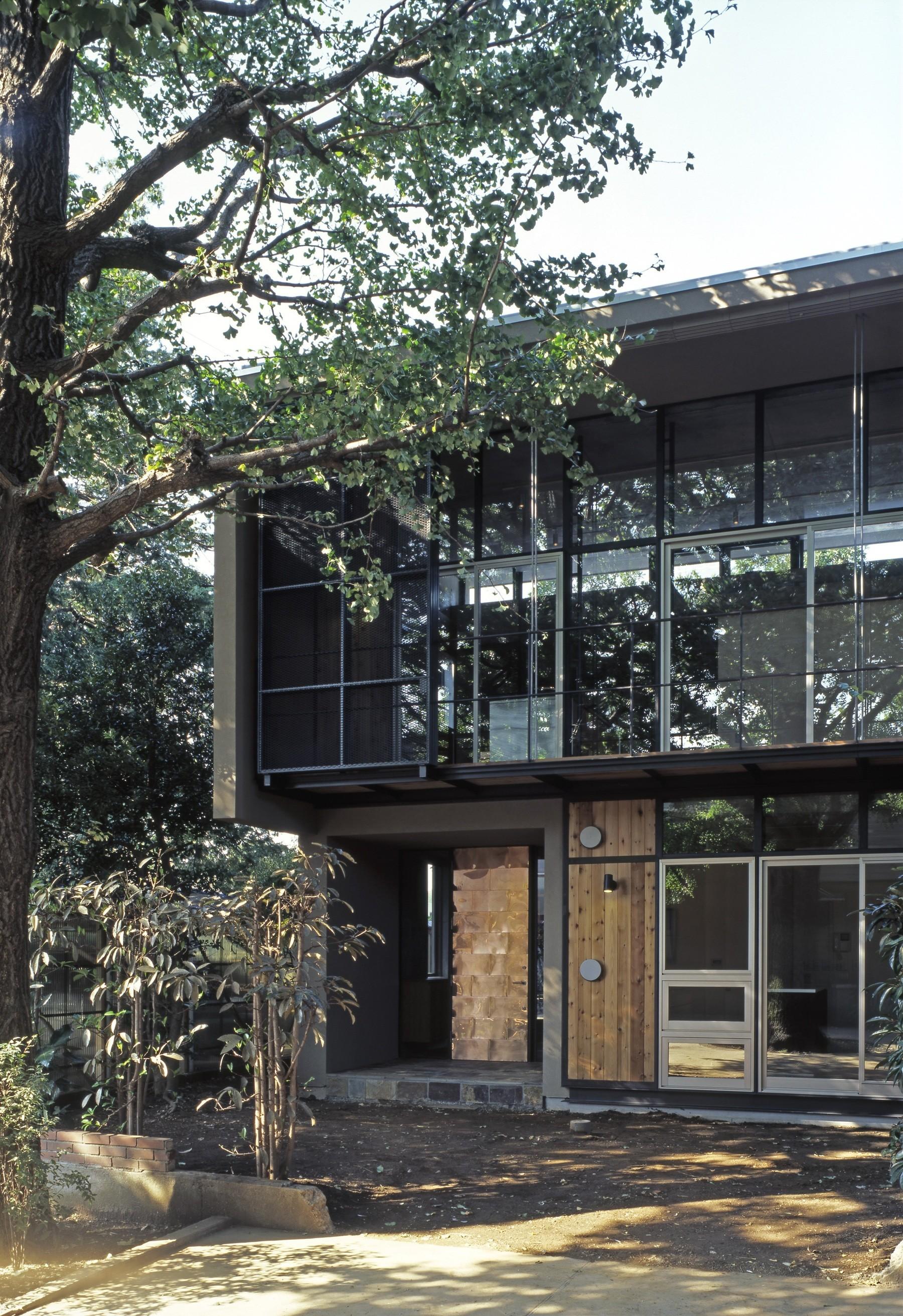 外観事例:外観ディティール(大銀杏の家(二世帯住宅))