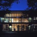大銀杏の家(二世帯住宅)の写真 南面外観夜景