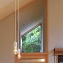 囲まれていてものびのび暮らせる家~日当りの悪さを克服!光が降り注ぐ明るい家~の写真 FIX窓