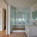 登り庭の家/徒歩15秒の山荘の写真 バスルーム