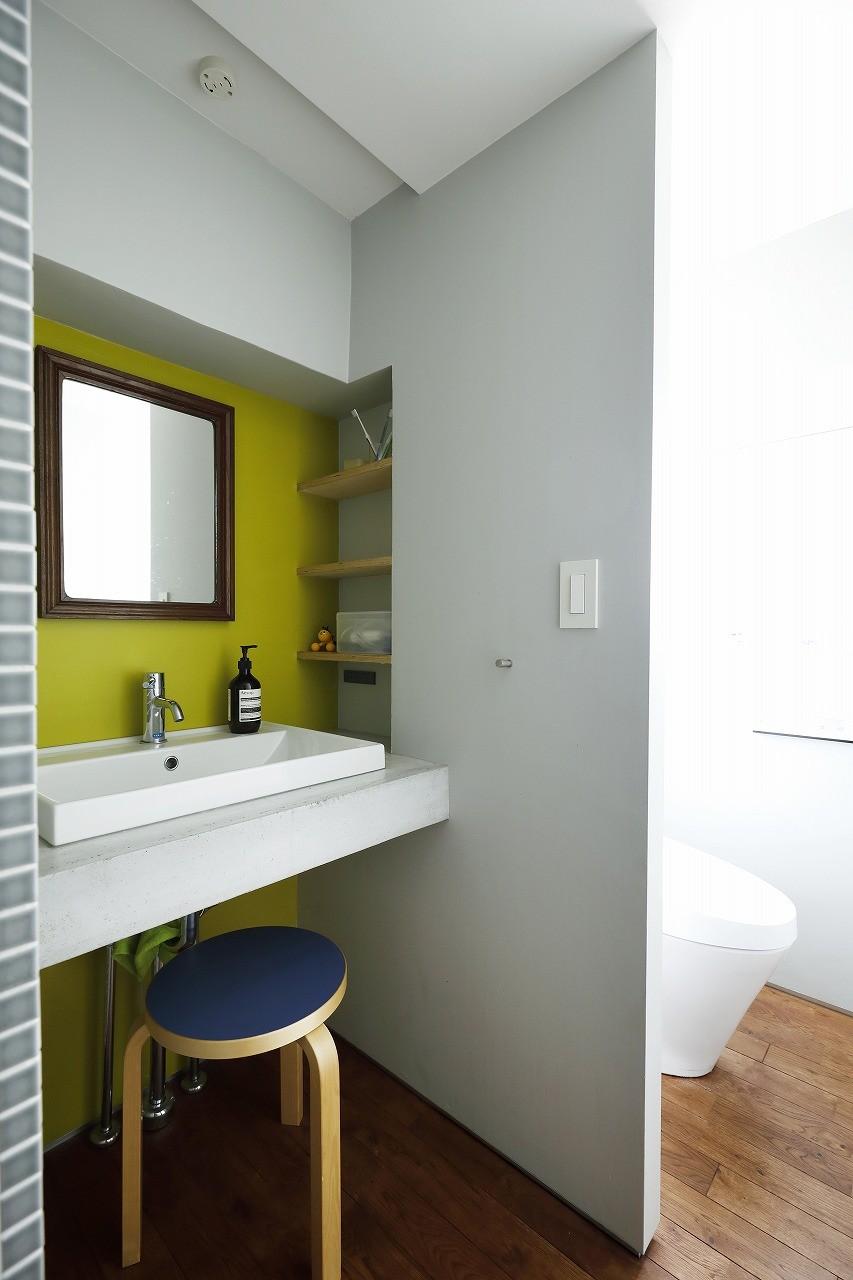 バス/トイレ事例:洗面(デッドスペースのない家)