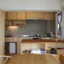 中古マンションのリノベーション~木の温もりのあるオーダーキッチンとオーダー家具~の写真 ダイニングキッチン