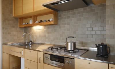 中古マンションのリノベーション~木の温もりのあるオーダーキッチンとオーダー家具~ (キッチン)
