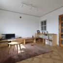 中古マンションのリノベーション~木の温もりのあるオーダーキッチンとオーダー家具~の写真 リビング