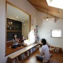 庭とつながる家~自然を身近に感じる家~の写真 子供室