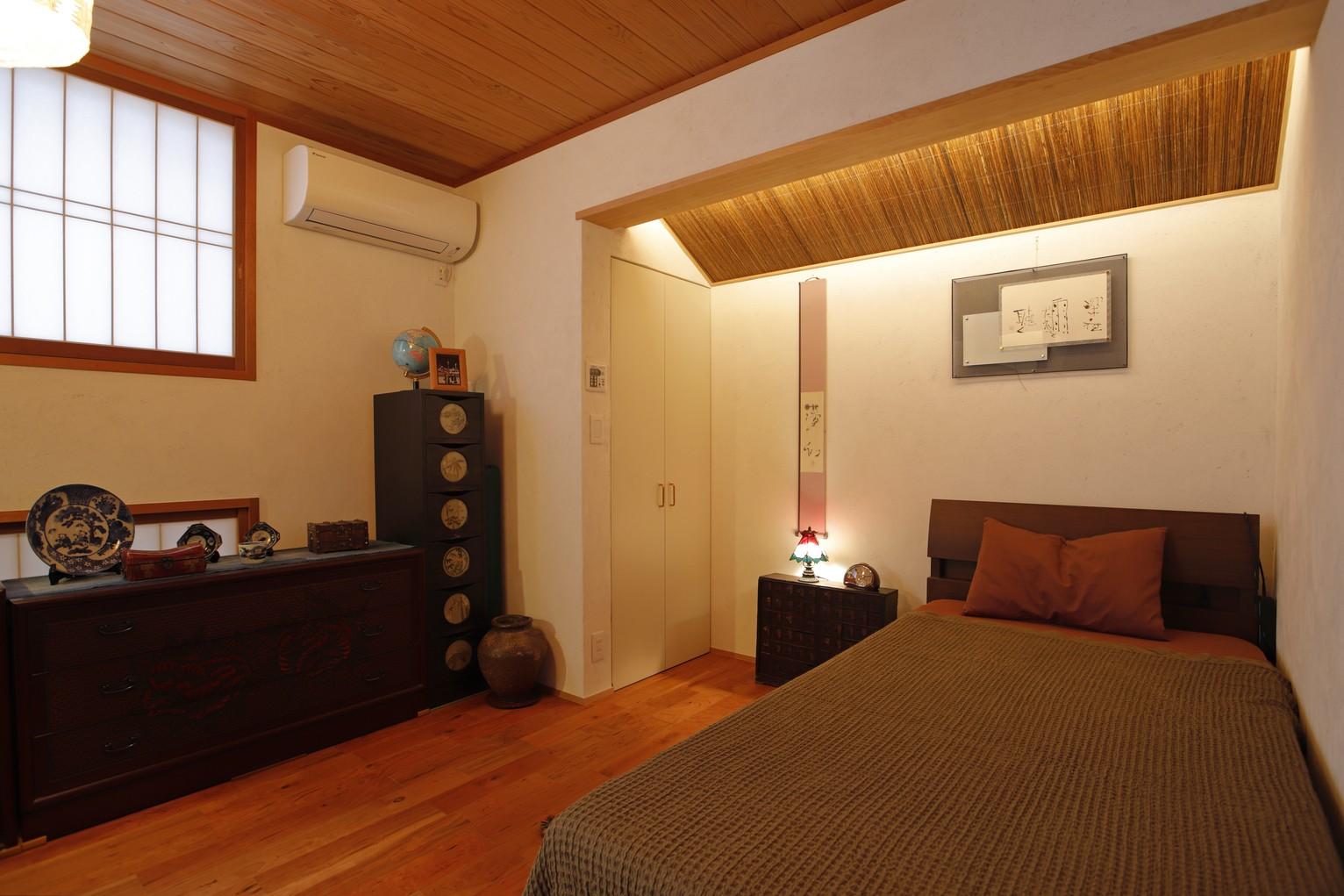 ベッドルーム事例:寝室(老後の暮らしのためのリノベーション~和室の寝室をベッドを置ける洋室に~)