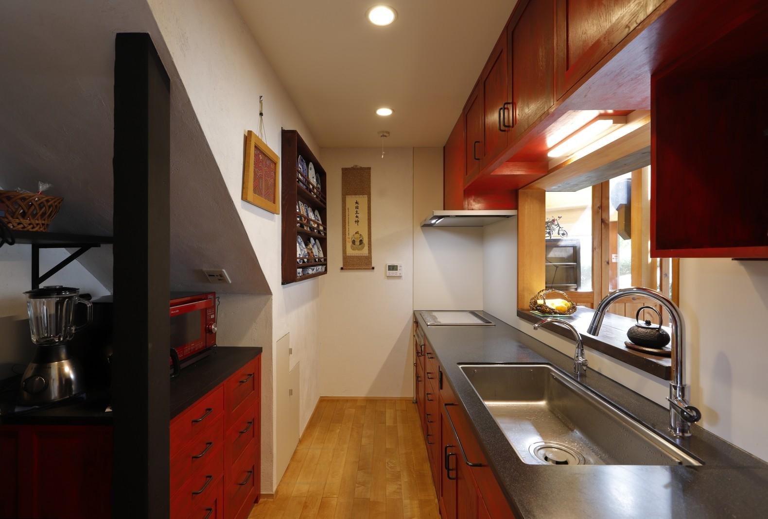 キッチン事例:キッチン(老後の暮らしのためのリノベーション~和室の寝室をベッドを置ける洋室に~)