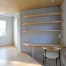 幾何学模様に出会えるまちの家の写真 三角形の書斎