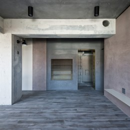 既存を活かした住宅兼レンタルスペース (リビングダイニング)