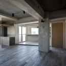 既存を活かした住宅兼レンタルスペースの写真 リビングダイニング