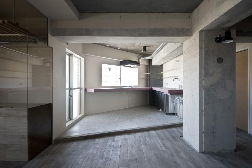 既存を活かした住宅兼レンタルスペース (キッチン)