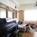 セルフビルドのマンションリフォームの写真 リビング