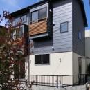18坪の敷地にたつ収納たっぷりのコンパクトな家の写真 外観