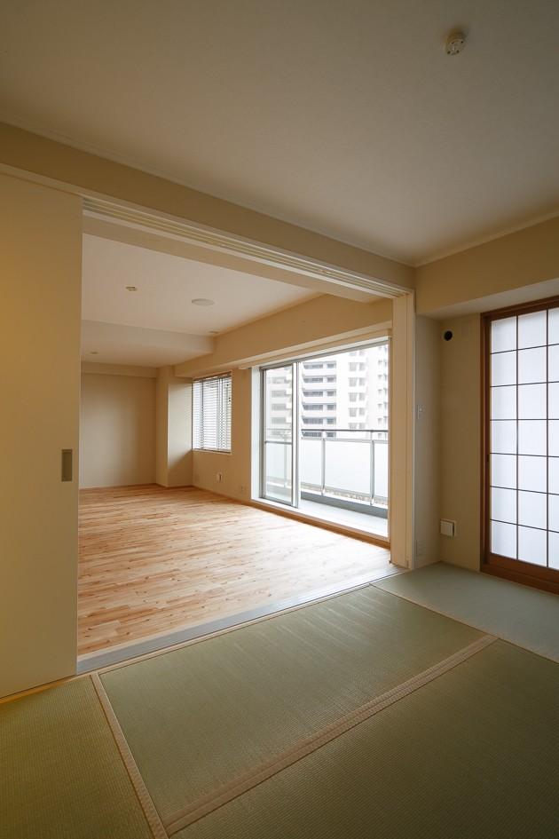 その他事例:和室(日の当たる広く開放的なリビングが自慢の家)
