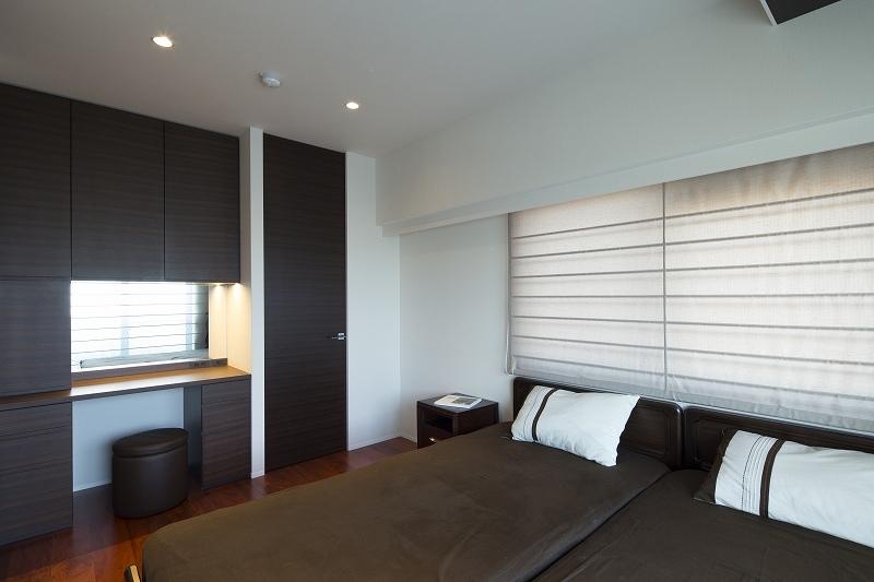 明るくて高級感溢れるラグジュアリーな空間(リノベーション)の部屋 ベッドルーム