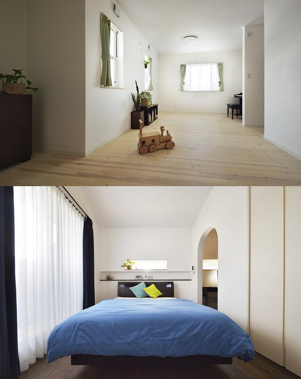 ベッドルーム事例:ナチュラルテイストの個室(四季を愉しむロハスな家)