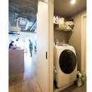 家族が集う多目的に活用できるLDKの写真 「洗濯機置き場」家族が集う多目的に活用できるLDK