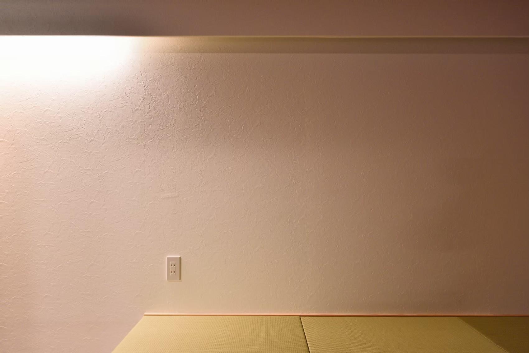 ベッドルーム事例:和室(小上がりのある和モダンスタイルリノベーション)