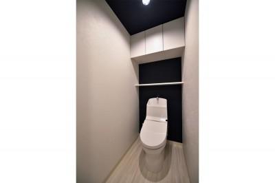 トイレ (小上がりのある和モダンスタイルリノベーション)