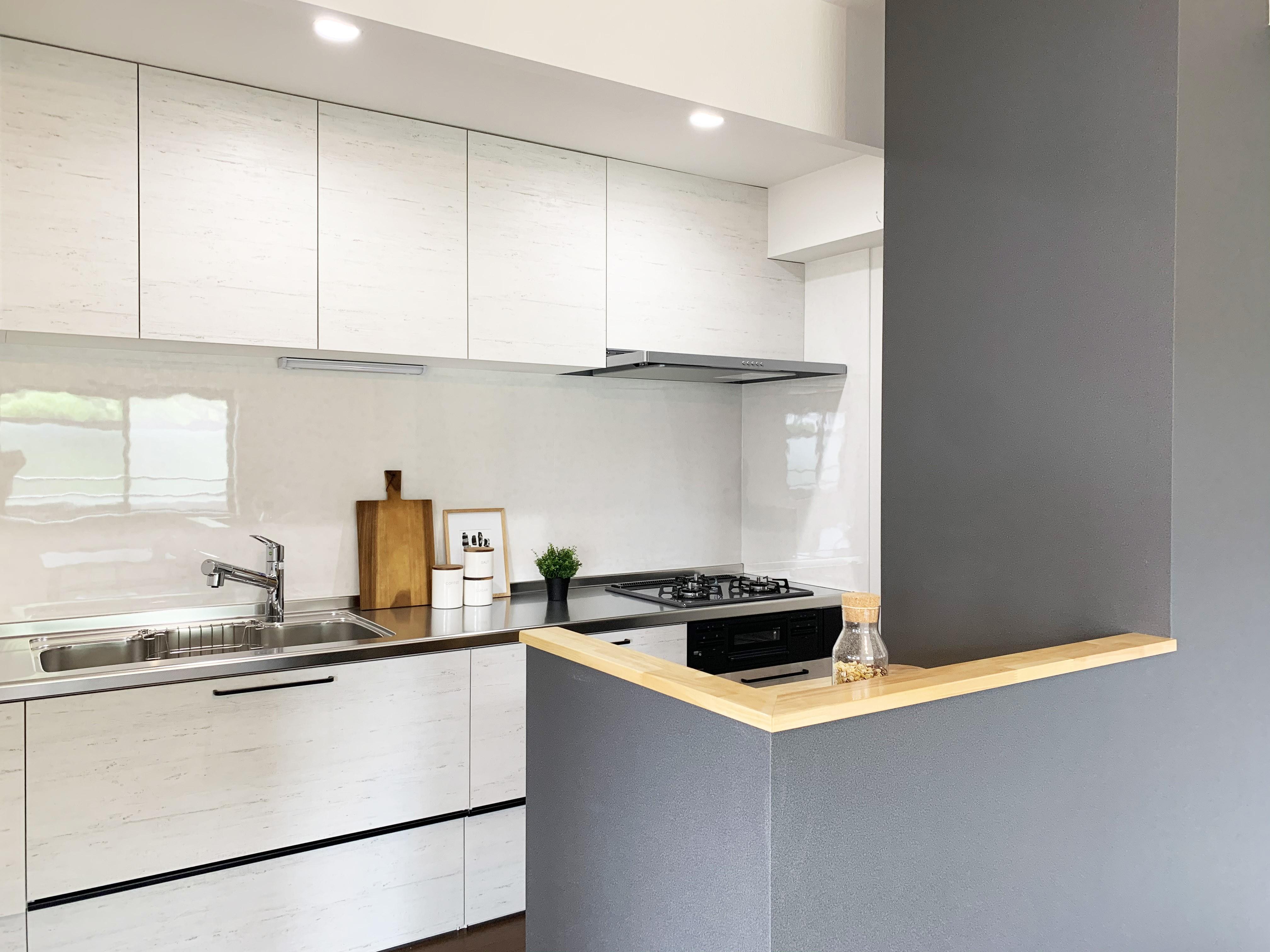 キッチン事例:キッチン(落ち着いたカラーで楽しむリノベーション)