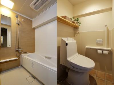 使いやすさにこだわった浴室・トイレ (介護しやすい家へ 娘からのプレゼント)
