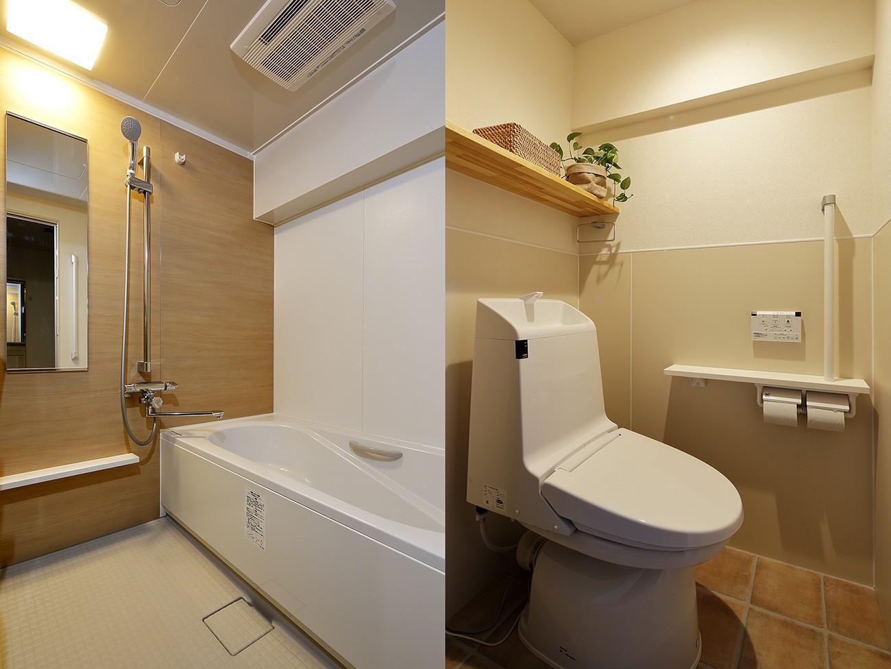 バス/トイレ事例:使いやすさにこだわった浴室・トイレ(介護しやすい家へ 娘からのプレゼント)