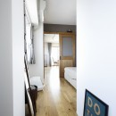 ネコと日向ぼっこの写真 洋室→寝室→LDの動線