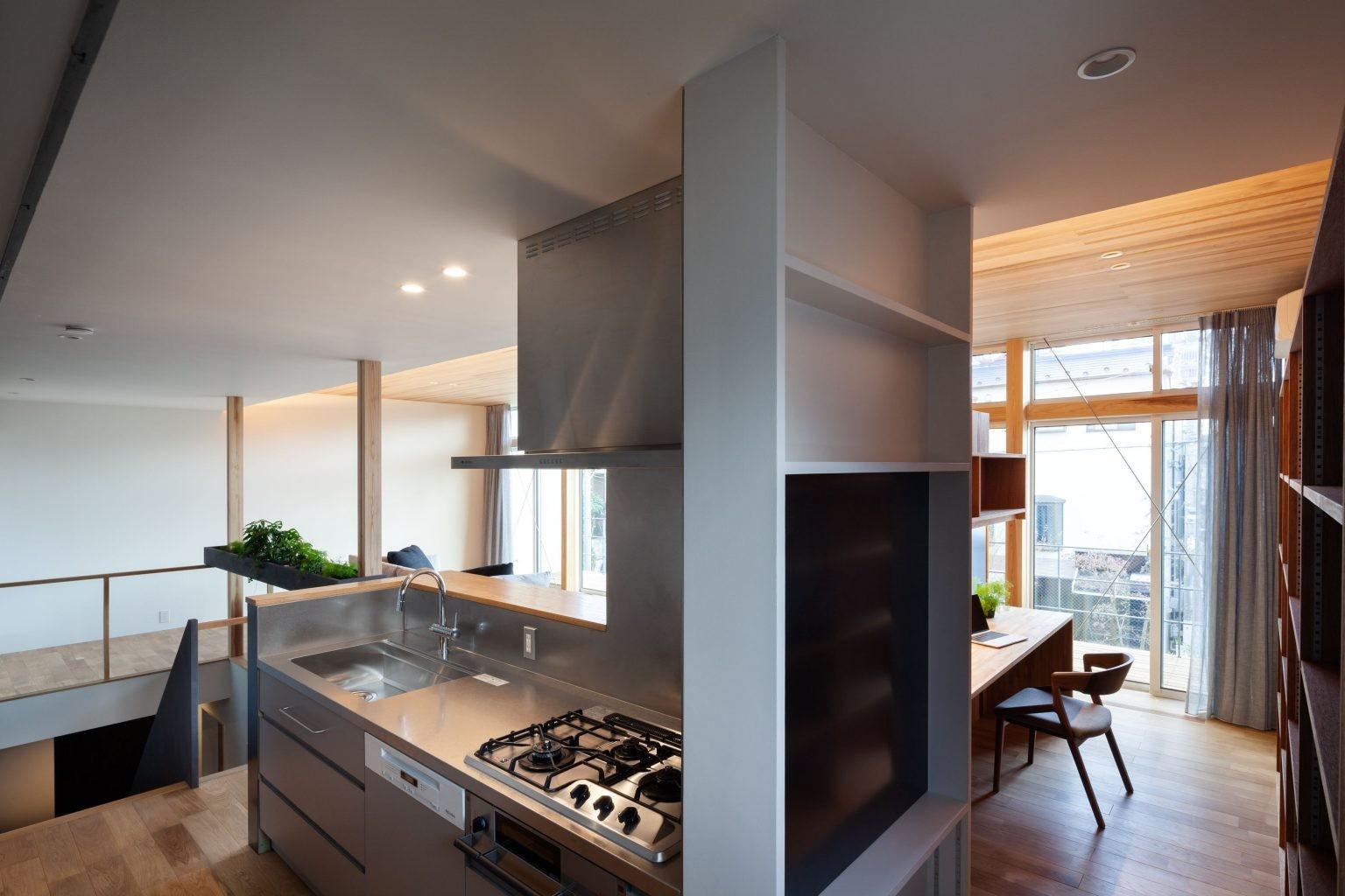 キッチン事例:キッチン+ワークスペース(早宮の家)