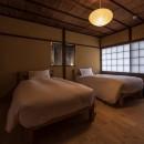 学林町の町家/耐震・断熱改修も行った京町家のリノベーションの写真 寝室/障子ごしの柔らかい光が落ち着いた雰囲気をつくります