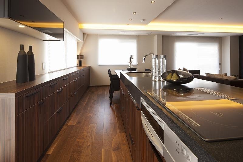 高台に建つ都心のセカンドハウス(リノベーション)の写真 キッチン3